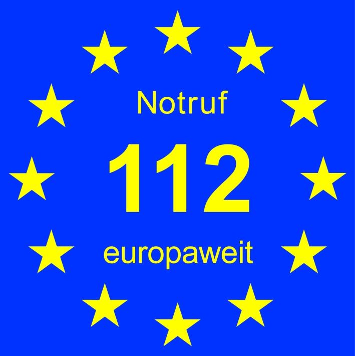 D-Logo-Notruf 112 europaweit